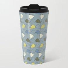 Vintage leaves grey Metal Travel Mug