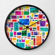Polygonal Map Wall Clock