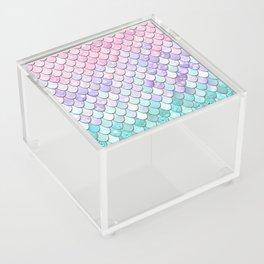Mermaid Pastel Pink Purple Aqua Teal Acrylic Box