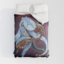 Metallic Octopus III Comforters