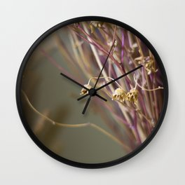 Dry flowers Wall Clock