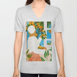 A Few Bad Oranges Is No Reason Not To Bring The Grove Home #painting Unisex V-Neck