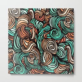 Swirl Design Metal Print