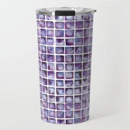 Purpe Waterclor Tile Pattern Travel Mug