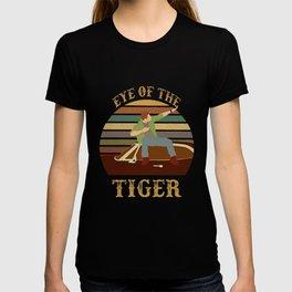 Eye Of The Tiger Jensen Ackles Retro Sunset T Shirt T-shirt