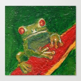Red Eyed Frog Canvas Print