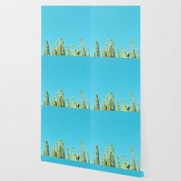 Desert Cactus Reaching for the Blue Sky Wallpaper