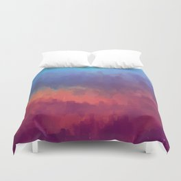 Glitched into Abstraction 1 Duvet Cover