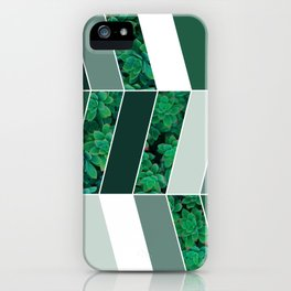 Green Herringbone #society6 #green #succulent iPhone Case