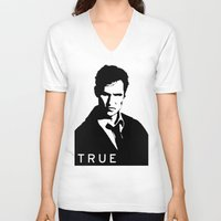 true detective V-neck T-shirts featuring True Detective by Green'n'Black
