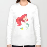 ariel Long Sleeve T-shirts featuring Ariel by Rod Perich