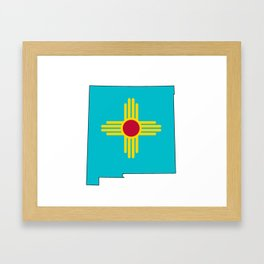 Turquoise New Mexico Framed Art Print