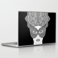 mask Laptop & iPad Skins featuring Mask by Luna Portnoi