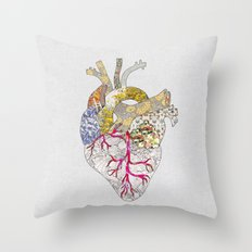 my heart is real Throw Pillow