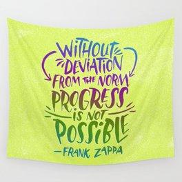 Frank Zappa on Progress Wall Tapestry