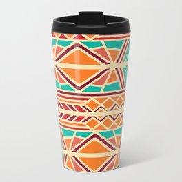 Tribal ethnic geometric pattern 027 Metal Travel Mug