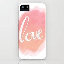 Pretty Love Print With Arrows iPhone Case