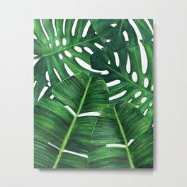 Tropical palm art Metal Print