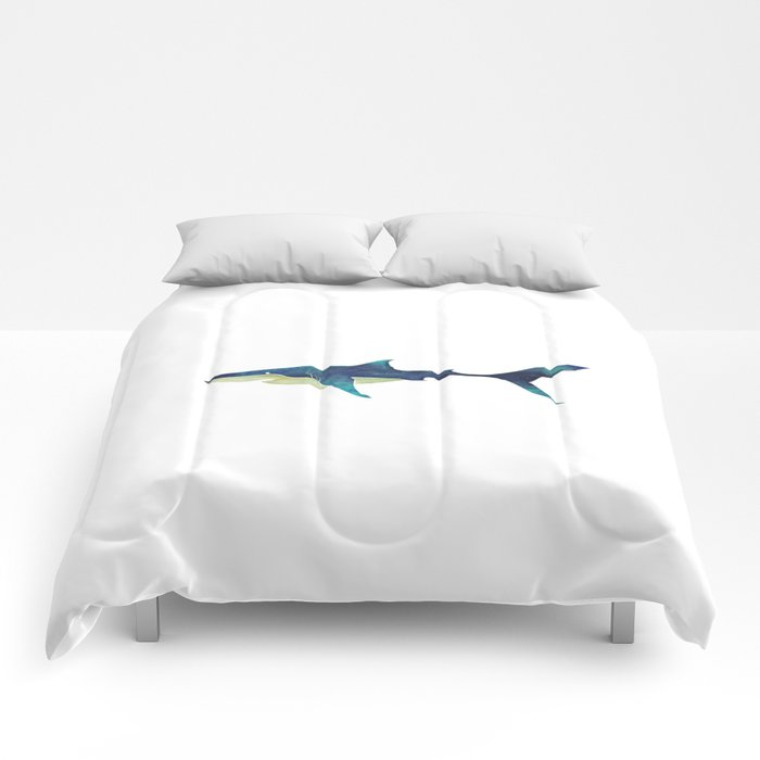 Great White Shark Comforters by saeiarts | Society6