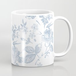 Emma Floral in Blue Coffee Mug