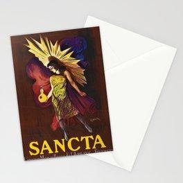 Vintage Sancta liqueur merveilleuse de l'abbaye Advertisement Poster by Leonetto Cappiello Stationery Cards