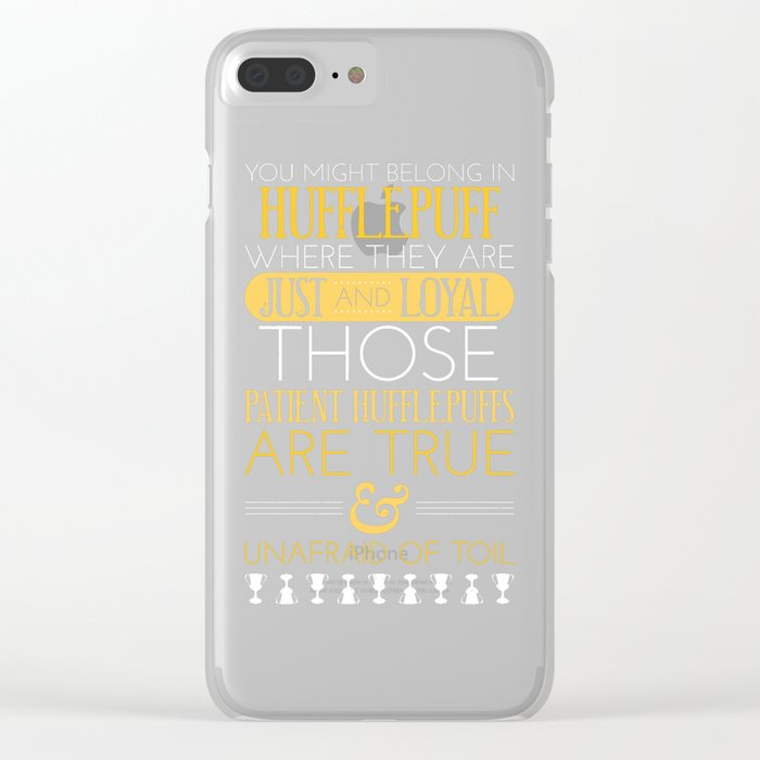 Hufflepuff Clear iPhone Case