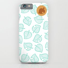 animal crossing cute nook shirt pattern iPhone Case