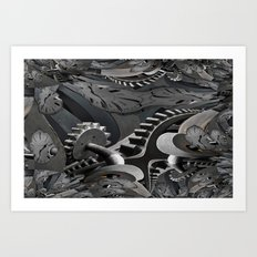 Caught in the cogs of time... Art Print