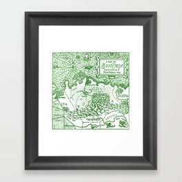 Map of Bohemia (green) Framed Art Print