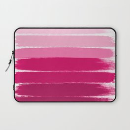 Mola - ombre painting bruskstrokes tonal gradient art pink pastel to hot pink decor Laptop Sleeve