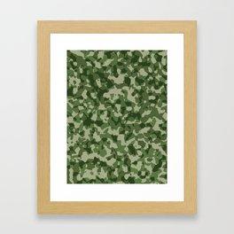 Military Jungle Green Camouflage Framed Art Print