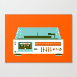Mix Tape - I love the 80s Canvas Print