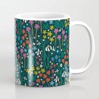 botanical Mugs featuring Botanical Garden  by Anna Deegan