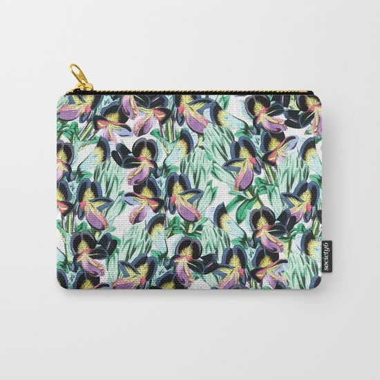 Floral Flutter #society6 #decor #buyart Carry-All Pouch