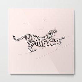 Tiger and Sun I. Metal Print