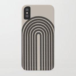 Rainbow Art, Geometric Mid Century, iPhone Case