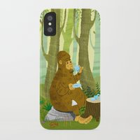 bigfoot iPhone & iPod Cases featuring Bigfoot Busted by Tim Paul