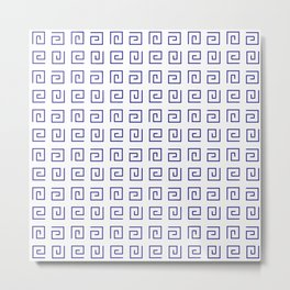 Antic pattern 21- roman or greek pattern - blue Metal Print