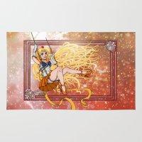 sailor venus Area & Throw Rugs featuring Sailor Venus by Teo Hoble