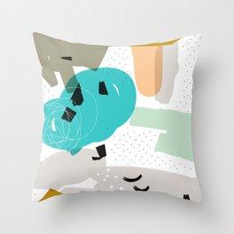 Happy go lucky Throw Pillow