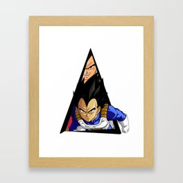 Youtriangle ∆ Vegeta Framed Art Print