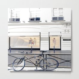 boutique coco paris and bicycle Metal Print