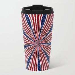 American Flag Kaleidoscope Abstract 1 Travel Mug
