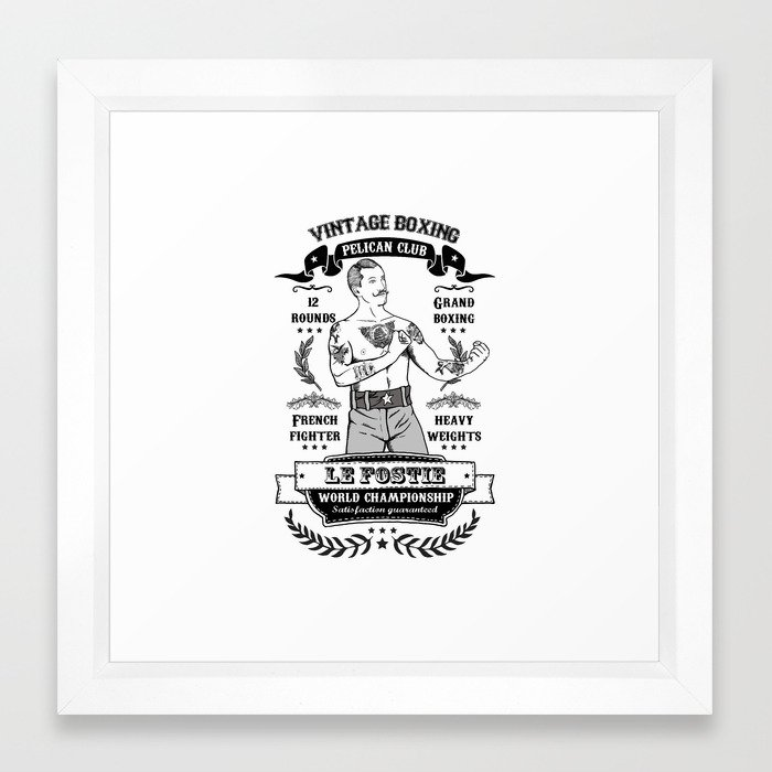 Vintage Boxing Framed Art Print by tsir | Society6