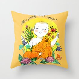 The Buddhist Monk Throw Pillow