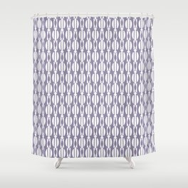 NIGH mauve and white weave a smock pattern Shower Curtain