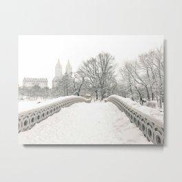 Winter Snow in New York City Metal Print