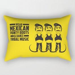 Hector loves tribal music.  Rectangular Pillow