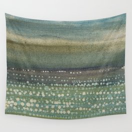 Landscape Dots- Blue Wall Tapestry