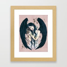 Wither Gothic Angel Of Decay Framed Art Print